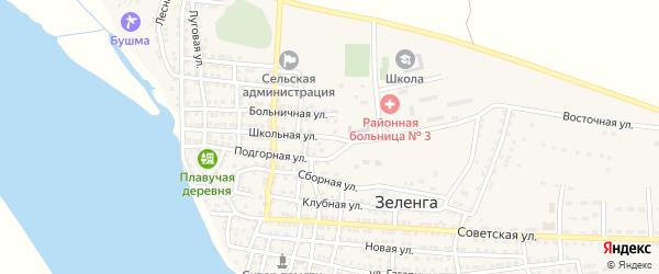 Школьная улица на карте села Зеленга с номерами домов
