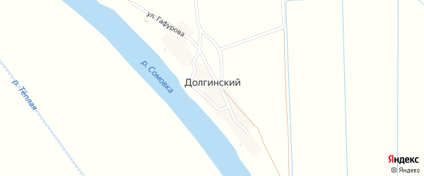 Улица Гафурова на карте Долгинский поселка с номерами домов