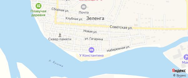 Улица Гагарина на карте села Зеленга с номерами домов
