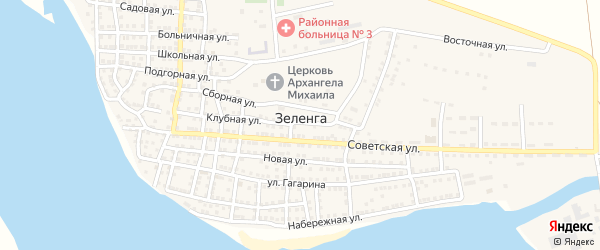 Улица Остров СКРВ на карте села Зеленга с номерами домов
