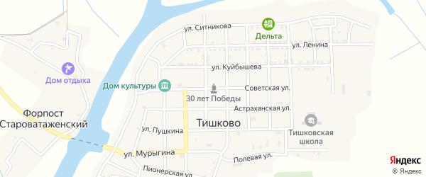 Советская улица на карте села Тишково с номерами домов