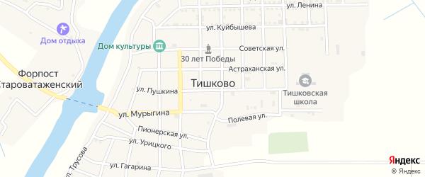 Спортивная улица на карте села Тишково с номерами домов