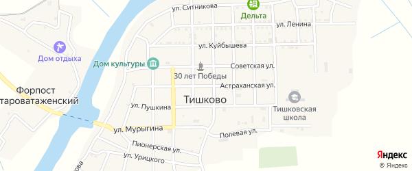 Астраханская улица на карте села Тишково с номерами домов