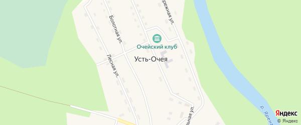Лесная улица на карте поселка Очеи с номерами домов
