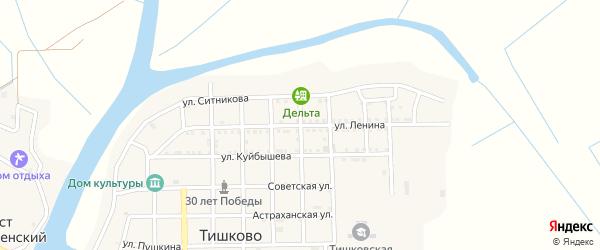 Улица Ленина на карте села Тишково с номерами домов