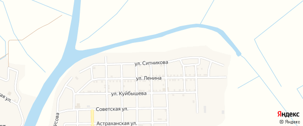 Улица Ситникова на карте села Тишково с номерами домов