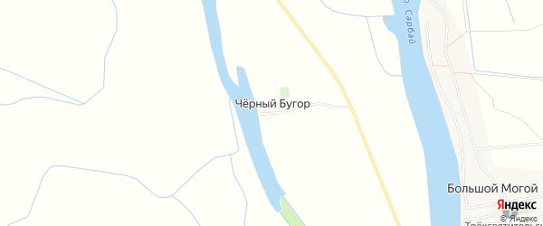 Карта поселка Черного Бугра в Астраханской области с улицами и номерами домов
