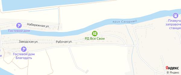 Рабочая улица на карте села Маково с номерами домов