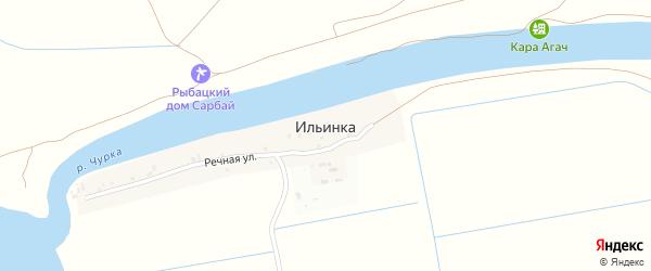 Православная улица на карте села Ильинки с номерами домов