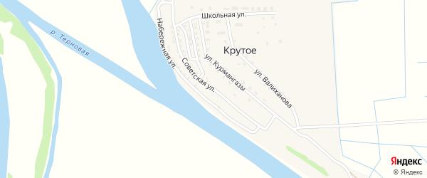 Советская улица на карте Крутого села с номерами домов