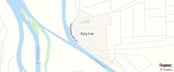 Карта Крутого села в Астраханской области с улицами и номерами домов
