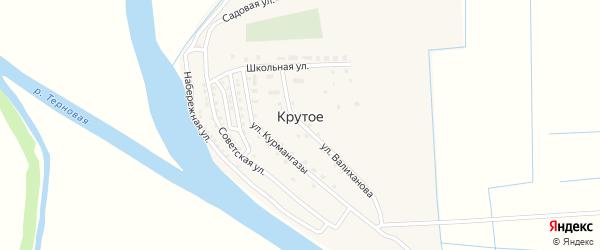 Угловая улица на карте Крутого села с номерами домов