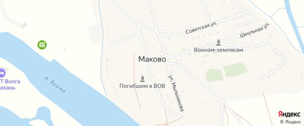 Кольцевая улица на карте села Маково с номерами домов