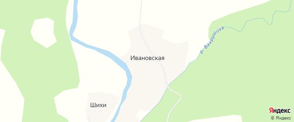 Карта Ивановской деревни в Архангельской области с улицами и номерами домов