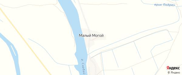 Карта села Малого Могой в Астраханской области с улицами и номерами домов