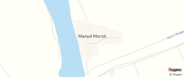 Набережная улица на карте села Малого Могой с номерами домов