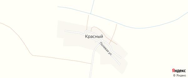 Полевая улица на карте Красного поселка с номерами домов