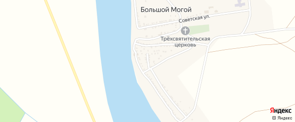 Колхозная улица на карте села Большого Могой с номерами домов