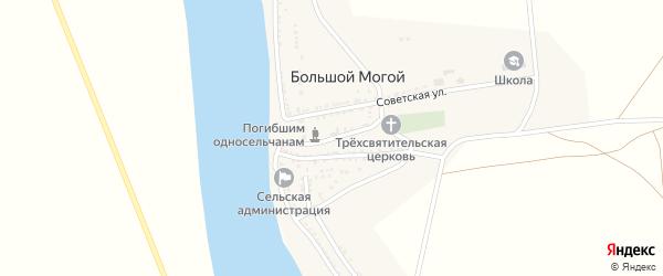 Улица Победы на карте села Большого Могой с номерами домов