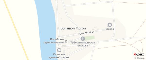 Улица П.Романова на карте села Большого Могой с номерами домов