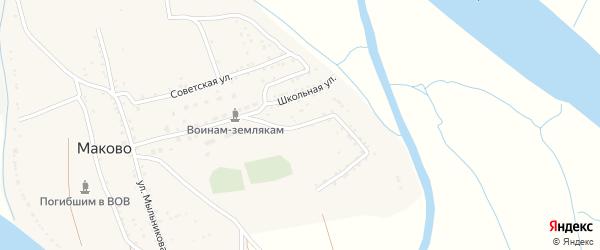 Подгорная улица на карте села Маково с номерами домов