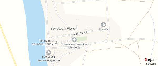 Советская улица на карте села Большого Могой с номерами домов