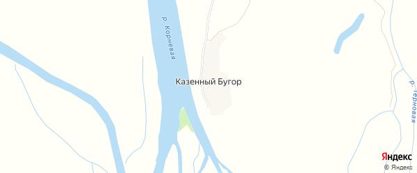 Карта села Казенного Бугра в Астраханской области с улицами и номерами домов