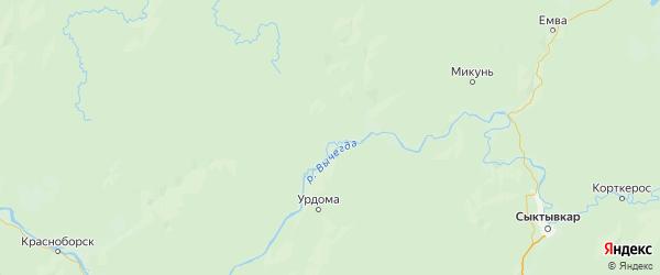 Карта Ленского района Архангельской области с населенными пунктами и городами
