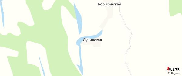 Карта Лукинской деревни в Архангельской области с улицами и номерами домов