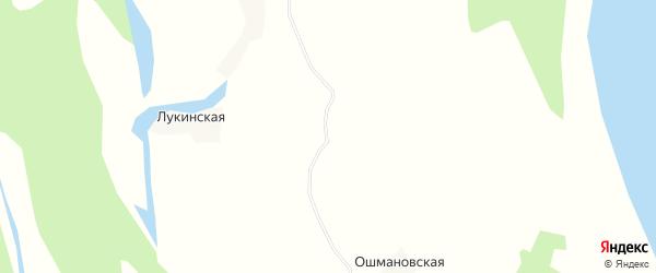 Карта Борисовской деревни в Архангельской области с улицами и номерами домов