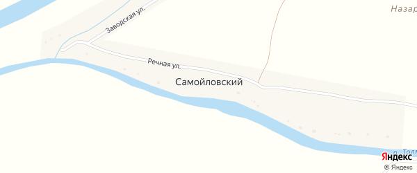 Заводская улица на карте Самойловского поселка с номерами домов