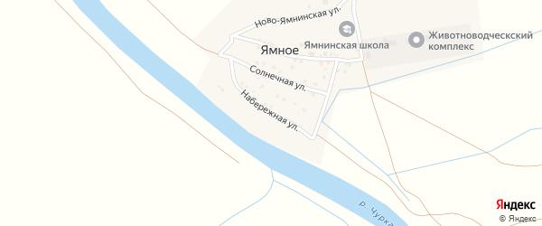 Набережная улица на карте Ямного села с номерами домов