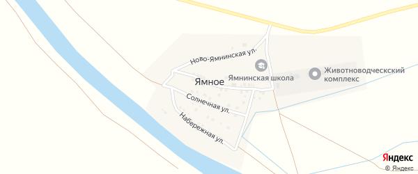 Солнечная улица на карте Ямного села с номерами домов