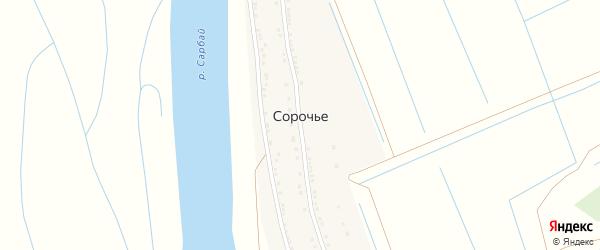 Улица А.Кунанбаева на карте села Сорочьего с номерами домов