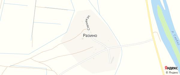 Степная улица на карте села Разино с номерами домов