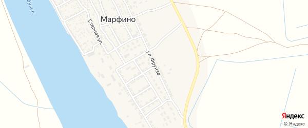 Улица Фрунзе на карте села Марфино с номерами домов