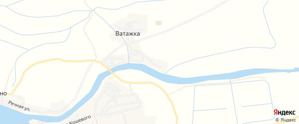 Карта села Ватажки в Астраханской области с улицами и номерами домов