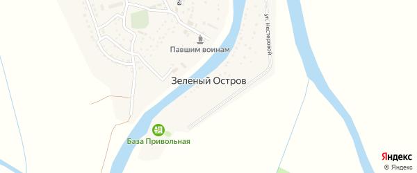 Колхозная улица на карте поселка Зеленого Острова с номерами домов