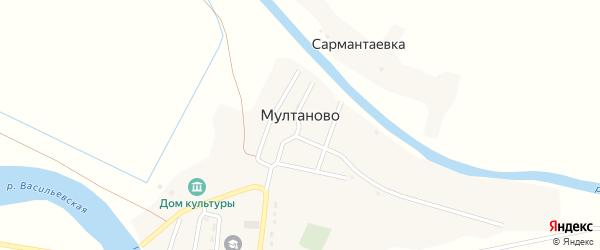 Улица М.Горького на карте села Мултаново с номерами домов