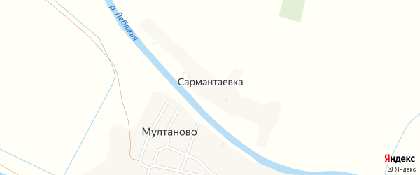 Улица Курмангазы на карте села Сармантаевки с номерами домов