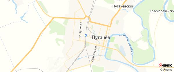 Карта Пугачева с районами, улицами и номерами домов