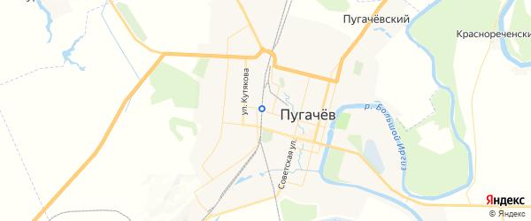 Карта Пугачева с районами, улицами и номерами домов: Пугачев на карте России