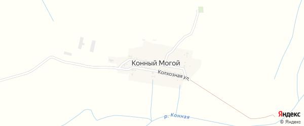 Улица Пушкина на карте села Конного Могой с номерами домов