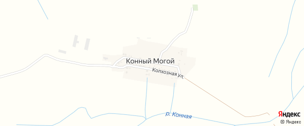 Тихий переулок на карте села Конного Могой с номерами домов