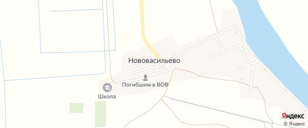 Переулок Абая на карте села Нововасильево с номерами домов
