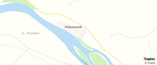 Карта Новояцкий хутора в Астраханской области с улицами и номерами домов