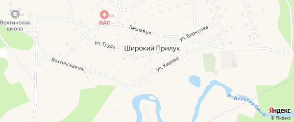 Улица Ленина на карте поселка Широкия Прилука с номерами домов