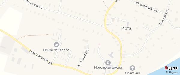 Сельский переулок на карте села Ирты с номерами домов