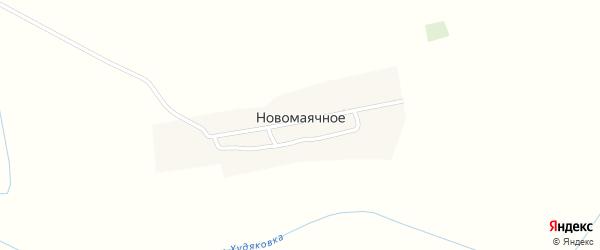 Центральная улица на карте Новомаячного села с номерами домов