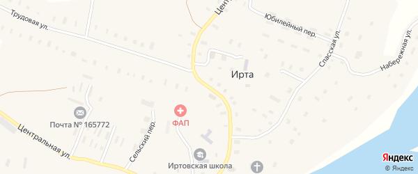 Центральная улица на карте поселка Сойги с номерами домов